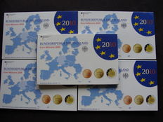 Germany - Euro year collection 2010A, D, F, G and J