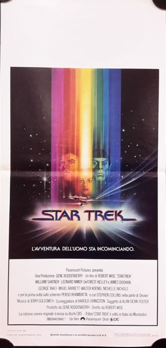 Star Trek I, II, III - 3x original Italian movie posters - 33x70 cm