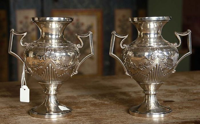 Two silver vases, Germany, ca. 1900