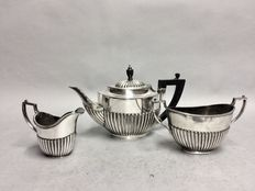 Silver plated tea- and coffee set, D. & A., England, ca 1910