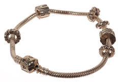Pandora, silver bracelet with 6 charms.