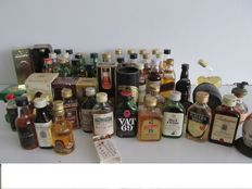 whisky miniature collection  - 58 bottles