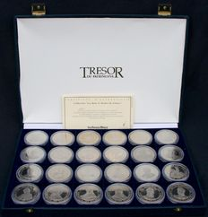 France - Trésor du Patrimoine - The Kings and Queens of France Collection (case of 24 medals)