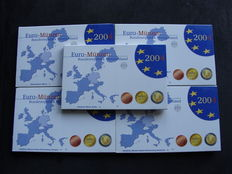 Germany - Year pack with Euro coins 2004 A, D, F, G, J