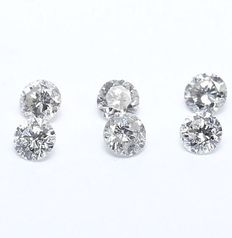 6 Diamonds – 0.30 ct.
