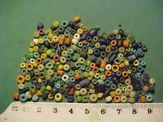 Over 200 Roman period glass, terracotta and stone beads - 0.5-5 mm (200+)