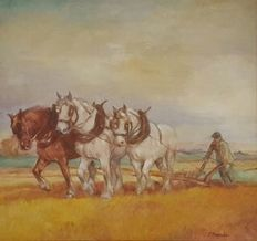 Unknown (20th century) - farmer with plough