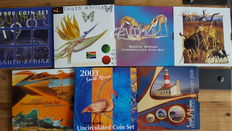 South Africa - coin sets 1998/2008 (7 different).