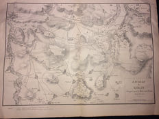 Ancient Berthaut map, with plan for the battle of Kolin, Marshal Daun 1757