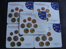 Germany – year pack 2004 A, D, F, G, J (five pieces)