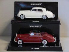 Minichamps - Scale 1/43 - Lot with 2 Rolls-Royce Silver Cloud II models