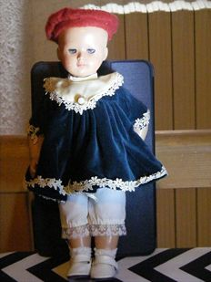 "Real doll from the brand ""Jumeau"" body in composition marked SFBJ 5, head made of celluloid marked ""Jumeau"" on the back of the neck"