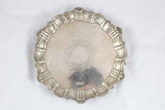 A Solid Silver Salver by Walker and Hall / England