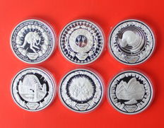 Australia – 6 coins of the Olympic games of 5 dollars in silver – 2000