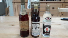 3 Old bottles of Martinique Rhum from the 1970s