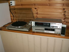 Very nice sounding Technics; amplifier SU-Z55 with CD Player SL-P277A and record player SL-D210 direct drive.
