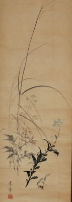 Bird and flowers - Raisho  Nakajima  来章中島 Japan -  1796 - 1871