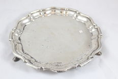 Silver salver, Mappin & Webb, Sheffield, 1911