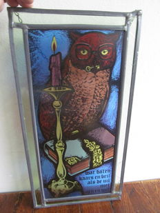 Stained glas with image of owl