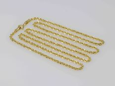 18 kt gold chain cord - Length 55 cm - Weight 3.06 g - Width: 2.1 mm