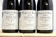 2001, Hospices de Beaune Pommard Cuvee Billardet, Cote de Beaune, Louis Jadot, France, 3 bottles.