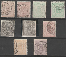 The Netherlands 1869 - selection weapon stamps - NVPH 13/18 incl. 14 P.