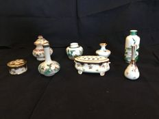 Crown Staffordshire - lot of 8 porcelain miniatures
