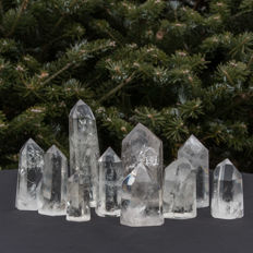 Rock crystal points – 5 to 12 cm – 1.243 kg (10)