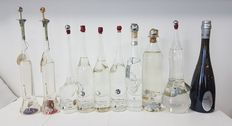 Grappa Collection - 10 beautiful bottles with an exceptional grappa, the most famous distillate in Italy - 9x40%vol. + 1x38%vol.