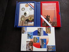 Japan and France - Coin set 2008 '150 years of commercial relations Japan - France 1858 - 2008'