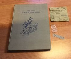 Resistance book (Liberation) World War II: Five years underground fight (& some distribution vouchers). Number 1016 of 2000. Plus: D Day newspaper (19-7-1944) and photos.