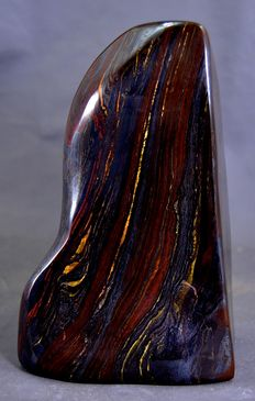 Striking multi-coloured Tiger's Eye tumble - 1150 x 92 x 57mm - 1184gm