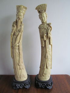 Chinese emperor and empress in ivorine