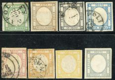 Neapolitan Provinces, 1861 - Full issue of 8 stamps.