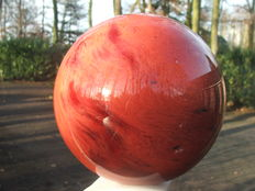 Unusual hand-polished Strawberry Quartz sphere - 14 cm - 3.235 kg
