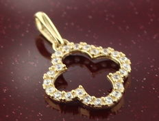 14k gold pendant with zirconia