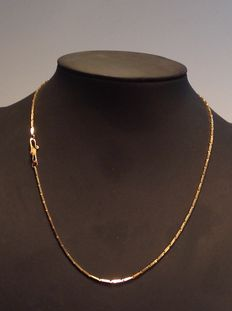 gouden staafjes  ketting