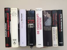 Adolf Hitler; Lot with 8 biographical editions - 1980/2010