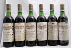 1981 Chateau Beau-Site, Saint-Estephe Cru Bourgeois, France, 6 bottles