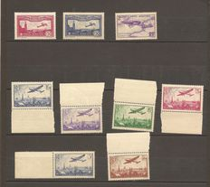 France 1930 to 1936 - Collection of Airmail Stamps - Yvert P.A. no. 5 to 13.
