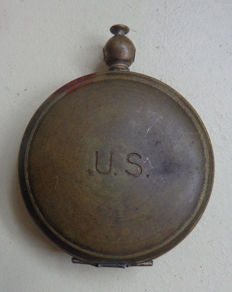 WWII U.S. Military Brass Waltham Pocket Compass