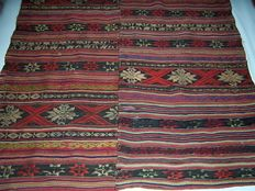 Jajim antique hand-knotted wool Persian kilim – Persian – 19th century