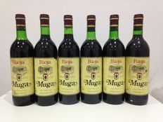 Lot of 6 Rioja bottles: 6 Muga 1982, excellent vintage, legendary Rioja winery founded in 1932.