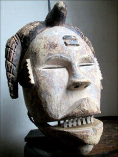 Mask with articulated jaws - OGONI - Nigeria