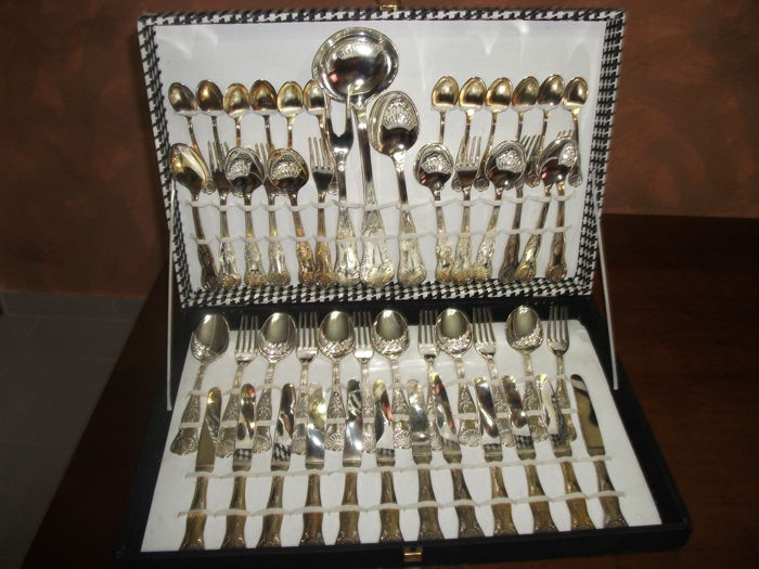Antique Silver Plated cutlery 800/1000 Vintage + certificate + original box all New & Antique Silver Plated cutlery 800/1000 Vintage + certificate + ...