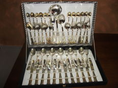 Antique Silver Plated cutlery 800/1000 Vintage + certificate + original box all New