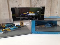 Minichamps / Onyx / Universal Hobbies - Scale 1/43 - Lot with 3 models: 3 x Renault F1
