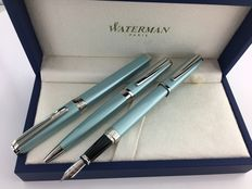 Waterman Exception Slim Celadon Ice Blue 3 part set. RARE