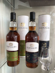 2 bottles - Glenalba 22 Years & Glenalba 27 years - Old Sherry Cask Finish Scotch Whisky