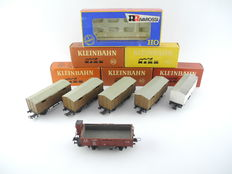 Kleinbahn/Rivarossi H0 - 306/2318 - 6 freight carriages from FS Italia [403]